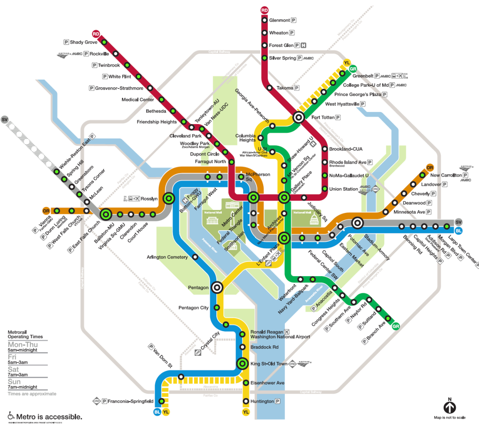 Metro Dc Map Metro Map - Washington dc transit map pdf
